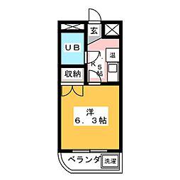ぷち・うらら[2階]の間取り