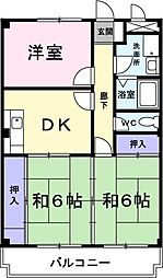 サンパーク勝川[205号室]の間取り