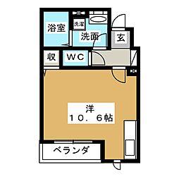メゾン・ド・プレジール太子堂[1階]の間取り