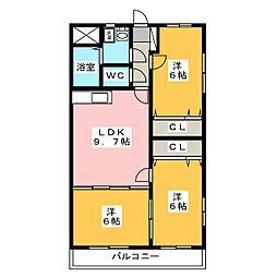 フォンテーヌ[3階]の間取り