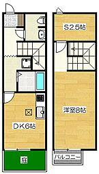 [テラスハウス] 福岡県筑紫野市岡田1丁目 の賃貸【/】の間取り