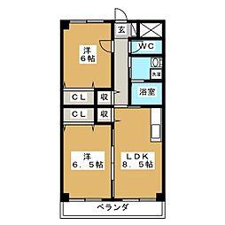 惣武マンション[3階]の間取り