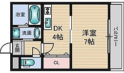 カーサスペリオーレ1[4階]の間取り