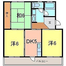 ハイネスハイツ稲垣[203号室]の間取り