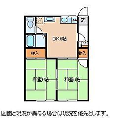 長野県茅野市ちの横内の賃貸アパートの間取り