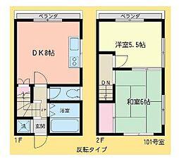 菊地テラスハウス[1階]の間取り