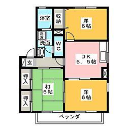 セジュールすみれA棟B棟[1階]の間取り