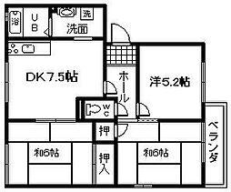 リベックス1号館[2階]の間取り