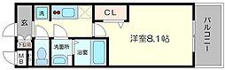 プレサンス心斎橋ソレイユ 13階1Kの間取り