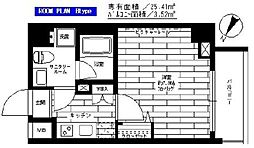 グランドコンシェルジュ日本橋水天宮 2階1Kの間取り