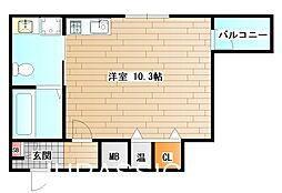 大阪府堺市堺区宿屋町東1丁の賃貸マンションの間取り