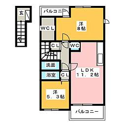 メゾン・ジュネス I[2階]の間取り
