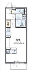 JR赤穂線 大多羅駅 徒歩15分の賃貸アパート 2階ワンルームの間取り