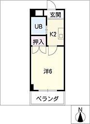 パレスピボット[2階]の間取り