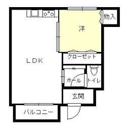 JR姫新線 播磨高岡駅 徒歩30分の賃貸アパート 1階1LDKの間取り