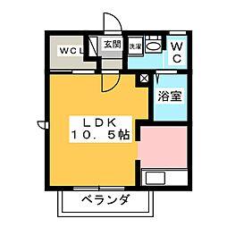 ヴェルドミール A棟[1階]の間取り
