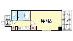 エステムコート新神戸エリタージュ[10階]の間取り