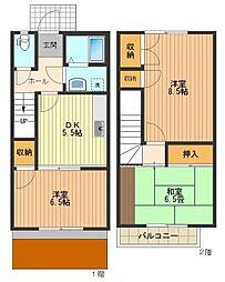[テラスハウス] 東京都八王子市椚田町 の賃貸【/】の間取り
