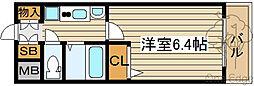 エステムコート梅田天神橋リバーフロント[13階]の間取り