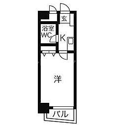 香川県高松市松福町1丁目の賃貸マンションの間取り