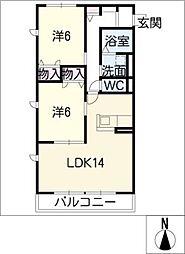 ボヌールA[1階]の間取り