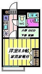 東京都江戸川区大杉1丁目の賃貸アパートの間取り