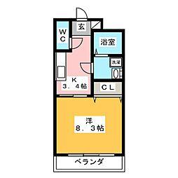 エアフォルク[3階]の間取り