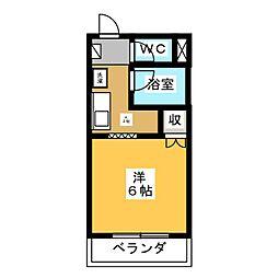サープラスAKI A棟[1階]の間取り