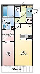 コルディアーレ[2階]の間取り