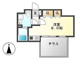 Branche桜山Chambre(ブランシェサクラヤマシャンブル)[2階]の間取り