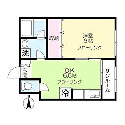 中央ダイナミックコーポNo.2[2階]の間取り