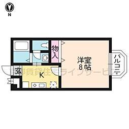 ララ東山[303号室]の間取り