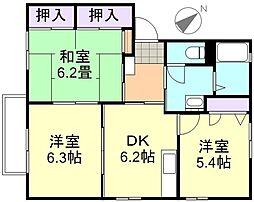 アスティオンC棟[2階]の間取り