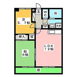 フォブール藤田II[1階]の間取り