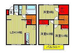 ファインコートA・B[B-103号室]の間取り