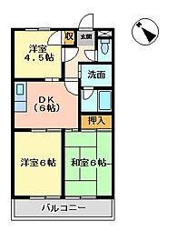 ベルフォーレ日根野[3階]の間取り
