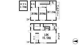 [テラスハウス] 兵庫県宝塚市桜ガ丘 の賃貸【/】の間取り
