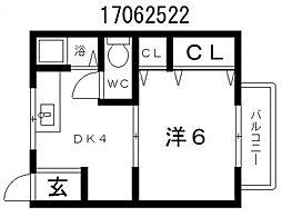 阪田ハイツ[3階]の間取り
