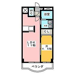 シャルルMARUWA[3階]の間取り