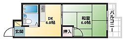 大阪府大阪市平野区平野西5丁目の賃貸マンションの間取り