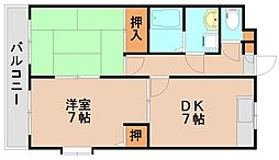 福岡県春日市千歳町3丁目の賃貸マンションの間取り