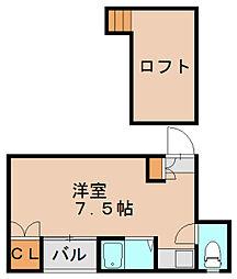 コスモ箱崎[2階]の間取り
