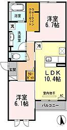 コージーコートA棟[1階]の間取り