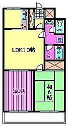 サンライト南浦和五番館[2階]の間取り