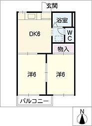 タウニー黒沢台[1階]の間取り