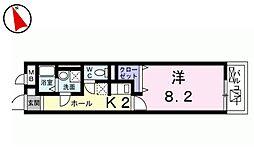 メゾン みのりII[4階]の間取り