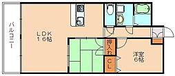 福岡県飯塚市相田の賃貸マンションの間取り