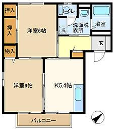 メゾンヨシコーF 201[2階]の間取り