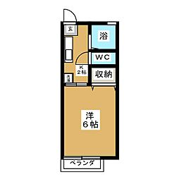 サンライフ翠[1階]の間取り