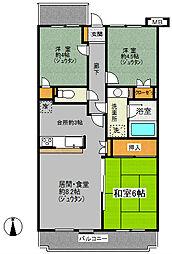 東戸塚パークホームズ[309号室]の間取り
